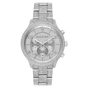 Michael Kors ladies silver tone gem detailed watch